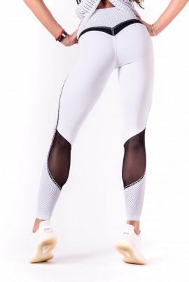 Valged musta võrguga silmapaistvad leggingsid