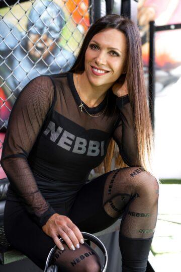 Kaunis õhuline must treeningsärk Nebbia (pikad varrukad)