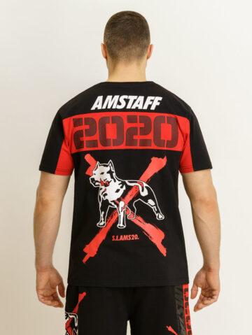 Amstaff must/punane T-särk