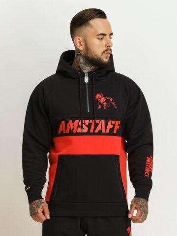 Amstaff musta ja punasega dressikomplekt
