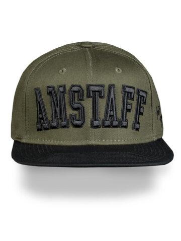 Nokamüts Amstaff must/roheline
